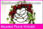 Beaded Floral Wreath