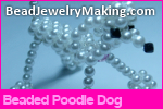 Beaded Poodle Dog